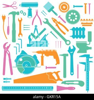 Colored Tools icons - Stock Photo