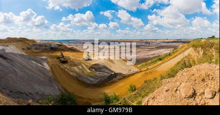 Germany, Grevenbroich, Garzweiler surface mine - Stock Photo