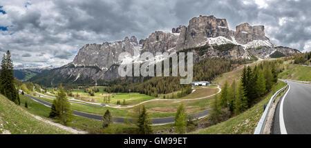 Italy, South Tyrol, Dolomites, Val Badia, Gardena Pass - Stock Photo