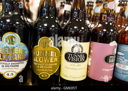 Bottles of Ale for sale. Swindon England UK - Stock Photo