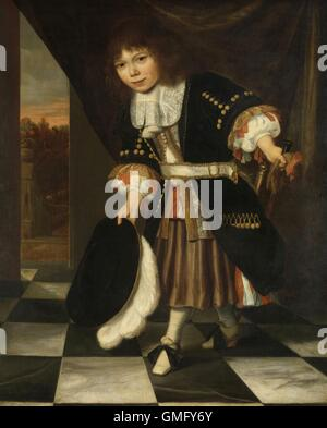 The Young Son of Admiral van Nes, by François Verwilt, 1669, Dutch painting, oil on canvas. Also known as 'The Admiral's - Stock Photo