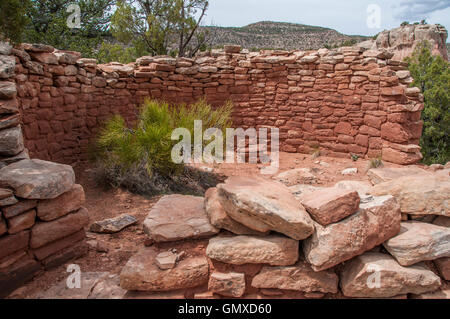 Anasazi ruins, Sand Canyon Trail, Canyons of the Ancients National Monument, Colorado. - Stock Photo