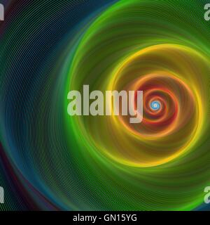 Colorful shiny spiral background - Stock Photo