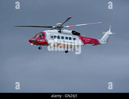 Sikorsky S-92A Coastguard SAR Helicopter (G-MCGI) based at Inverness. SCO 11,201. - Stock Photo
