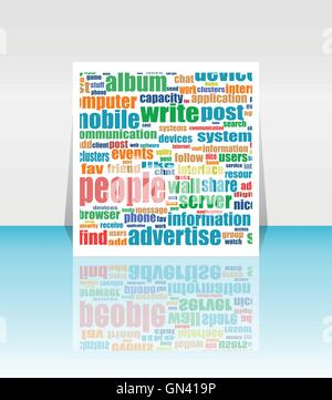 Vector flyer, brochure, magazine cover design can be used for print and publishing. - Stock Photo