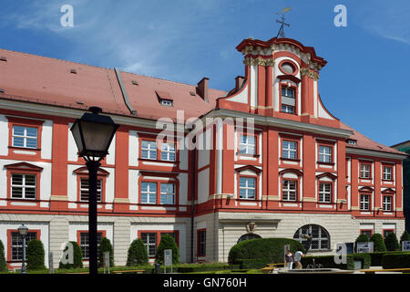 Building of the Ossolineum in Wroclaw with the National Ossolinski Institute in Poland. - Stock Photo