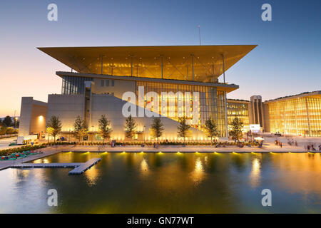 View of Stavros Niarchos Foundation Cultural Center in city of Athens. - Stock Photo