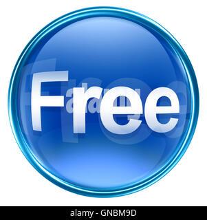 Free icon blue, isolated on white background - Stock Photo