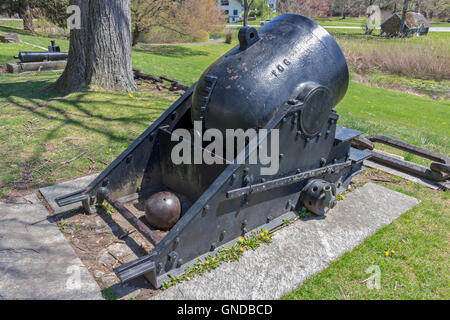 American Forged Cannon from Fort Pitt, PA 1861. - Stock Photo