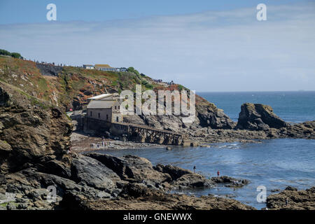 Around the most southerly point at the Lizard Cornwall England UK Polpeor Cove - Stock Photo