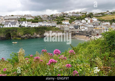 Port Issac, Viewed From Near the House of the TV Character of Dr Martin, Cornwall England UK - Stock Photo