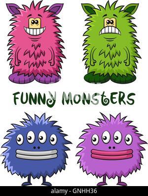 Cartoon Monsters Set - Stock Photo