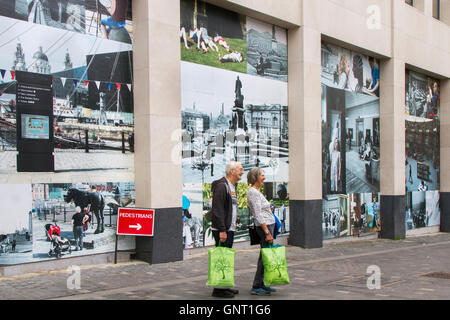 Illustrations of Bygone Liverpool taken six years ago in Greater Williamson Square, Liverpool, Merseyside, UK - Stock Photo
