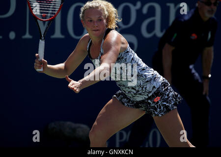 New York, United States. 30th Aug, 2016. Katerina Siniakova of the Czech Republic during her first round upset over - Stock Photo