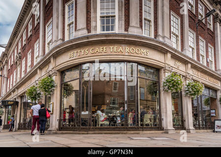 York. Yorkshire North England. Betty's Tea Rooms. - Stock Photo