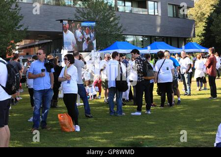 London, UK. 3rd September, 2016. Memory Walk sees thousands of people raising money for a world without dementia - Stock Photo