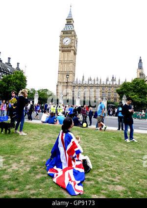 London, UK. 3rd September, 2016. March For Europe rally. London, UK.  03 September 2016. - Stock Photo