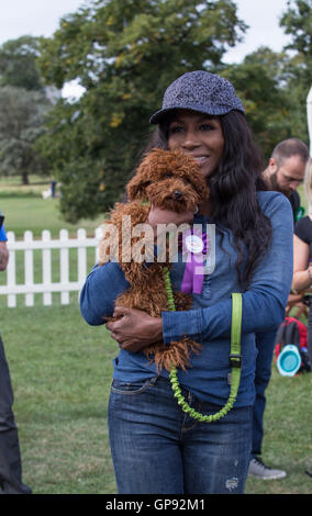 London, UK. 3rd September, 2016. Sinitta at the PupAid charity event in Primrose Hill, Camden Town, London on the - Stock Photo