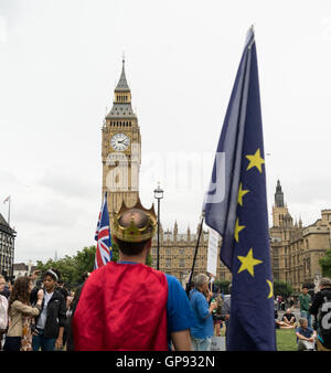 London, UK. 3rd September, 2016. Thousands of people march in cities across the UK protesting against Brexit. Protesters - Stock Photo