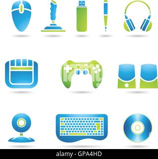 Various graphic design style PC accessories - Stock Photo
