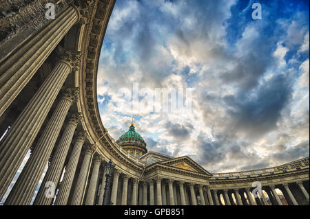 Column gallery of Kazan Cathedral, St. Petersburg, Russia - Stock Photo
