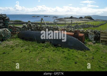 Inishbofin is an Irish island in County Galway 8 km from the Connemara coast. -  île irlandaise située dans le comté - Stock Photo