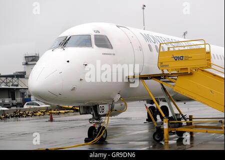 Montenegro Airlines At The Vienna International Airport - Stock Photo