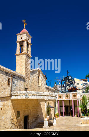 Greek Orthodox Church of the Annunciation in Nazareth - Stock Photo