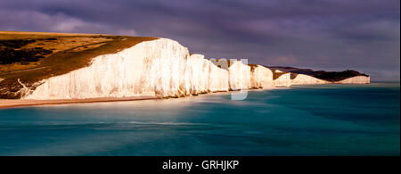 The Seven Sisters, Seaford, East Sussex, UK - Stock Photo