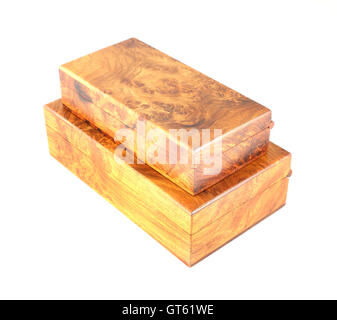 two wooden box (Myanmar style) - Stock Photo