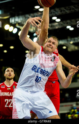 Copper Box Arena, London, UK. 10th Sep, 2016. GB's Daniel Clark under the basket. Great Britain face the team from - Stock Photo