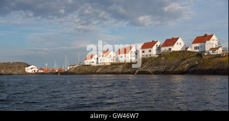 Åstol island taken from the sea - Stock Photo
