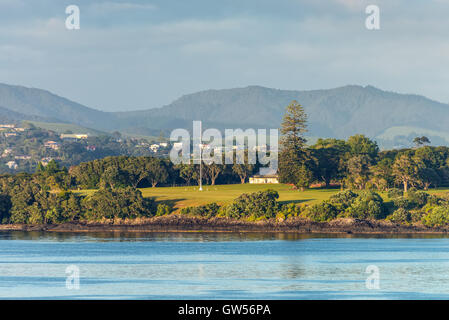 The Waitangi Treaty Grounds is the place where Maori chiefs first signed their accord with the British Crown in - Stock Photo