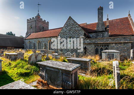 Church of St John the Baptist, Lewes, East Sussex - Stock Photo