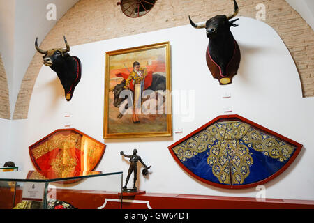 Painting of bullfighter Julio Dominguez Arjona,(Varelito), Museum of bulfighting, La Maestranza, Seville, Andalusia, - Stock Photo
