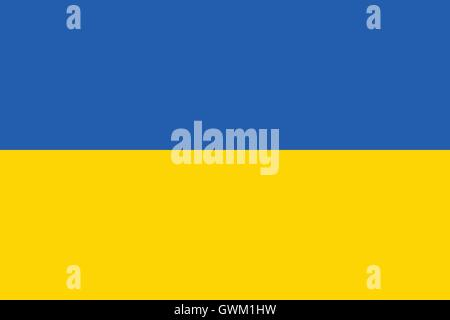 Ukraine flag , official colors and correct proportion , vector illustration. - Stock Photo