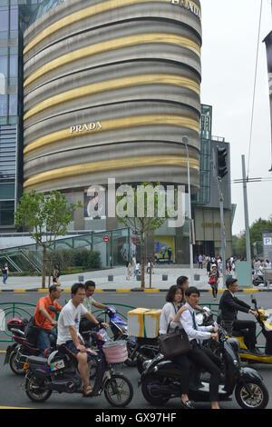 A Prada store in Shanghai, China. 10-Sep-2016 - Stock Photo