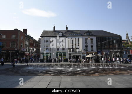 Williamson Square is in the city centre of Liverpool, England. It was initially laid out as a residential square - Stock Photo