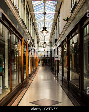 Victorian shopping Arcade in Southport. - Stock Photo