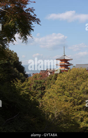 Kyoto, Japan - Nov 6, 2015: Kiyomizu-dera is an independent Buddhist temple in eastern Kyoto. The temple is part - Stock Photo