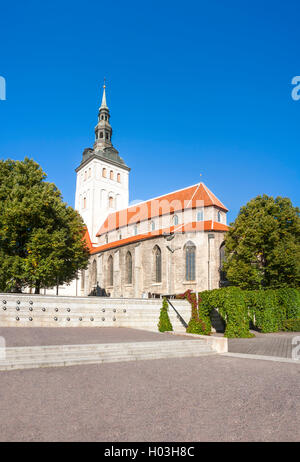 St. Nicholas church in the old town of Tallinn, Estonia - Stock Photo