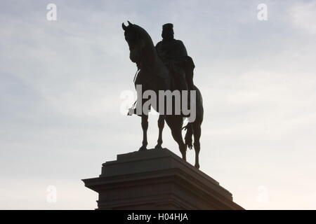equestrian monument at the Gianicolo dedicated to Giuseppe Garibaldi, Rome, Italy, detail - Stock Photo