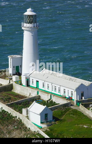 South Stack Lighthouse, Anglesey, Wales, - Stock Photo