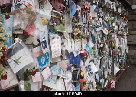 Ianto's shrine: Ianto Jones was a fictional character in the BBC television series Torchwood - Stock Photo