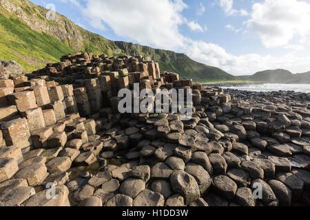 Port Ganny at Giant's Causeway, Bushmills, County Antrim, Northern Ireland, UK - Stock Photo