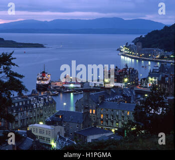 Oban in the 1970's, Argyll, Scotland - Stock Photo