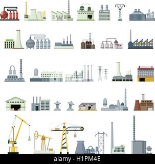different kinds of factory - Stock Photo