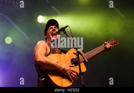 Barcelona,  Spain. 24th September 2016. Dani Lança in concert during day 3 of Festes de la Merce. Credit:  Charlie - Stock Photo