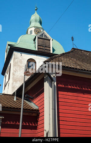 Separate belltower of Porvoo Cathedral, Finland - Stock Photo