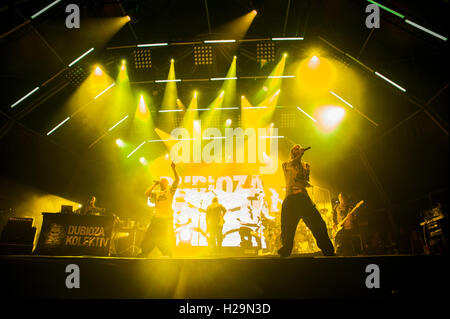 Barcelona,  Spain. 24th September 2016. Dubioza Kolectiv in concert during day 3 of Festes de la Merce. Credit: - Stock Photo